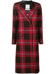 Each X Other Tartan Plaid Coat Red
