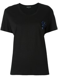 Markus Lupfer Sequin Flower Heart Dani T Shirt Black