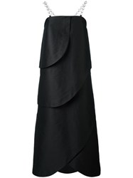 Isa Arfen Strapless Long Dress Black