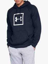 Under Armour Rival Fleece Logo Training Hoodie Academy White