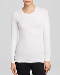 Majestic Long Sleeve Crew Neck Tee White
