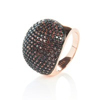 Latelita London Chocolate Ball Ring Rosegold Brown Rose Gold