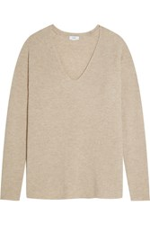Vince Wool And Cashmere Blend Sweater Beige