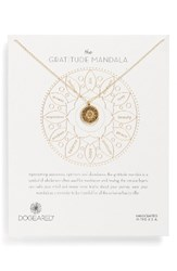 Dogeared Women's Gratitude Mandala Necklace Gold
