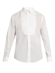 Lanvin Double Cuff Bib Front Dinner Shirt White