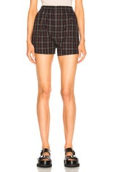 Maison Martin Margiela Cotton Check Shorts In Checkered And Plaid Checkered And Plaid