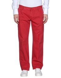 Class Roberto Cavalli Trousers Casual Trousers Men Red