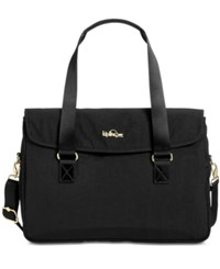 Kipling Superwork S Large Satchel Black Patent Combo