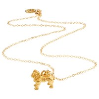 Mirabelle Boxer Dog Pendant Chain Necklace Gold