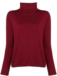 Aspesi Fine Knit Turtleneck Sweater Red