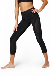 Ivy Park Mesh Inset Three Quarter Legging Black