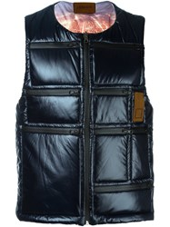 Letasca Quilted Zipped Vest Blue
