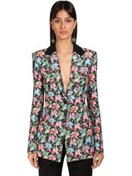 Paco Rabanne Floral Print Cotton And Viscose Jacket Multicolor