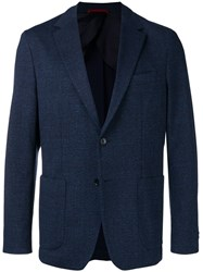 Fay Classic Fitted Blazer Blue