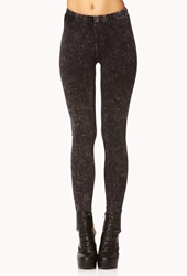 Forever 21 Mineral Wash Leggings Charcoal Grey