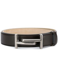 Tod's Double T Belt Brown