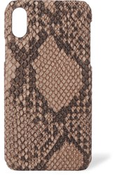 The Case Factory Snake Effect Leather Iphone 8 Brown