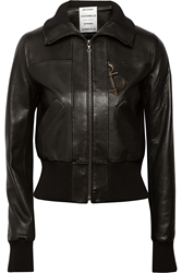 Anthony Vaccarello Embellished Leather Bomber Jacket
