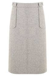 Mint Velvet Silver Grey 70S Midi Skirt