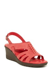 Keen Elizabeth Wedge Sandal Red