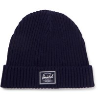 Herschel Supply Co Morris Ribbed Knit Beanie Navy