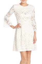Women's Eliza J Bell Sleeve Fit And Flare Dress