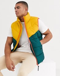 Tom Tailor Gilet With Colour Block Green