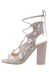 Miss Selfridge Chiara Sandals Grey
