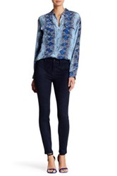Level 99 Janice Mid Rise Faux Suede Jean Blue