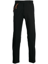 Berwich Chinos With Rope Detail Black
