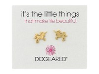 Dogeared Little Things Unicorn Stud Earrings Gold Dipped Earring