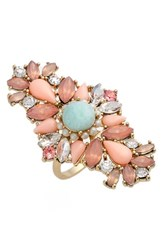Marchesa Women's Crystal Cluster Ring