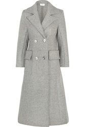 Isa Arfen Double Breasted Wool And Angora Blend Coat