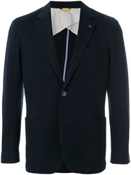 Canali Casual Button Jacket Blue
