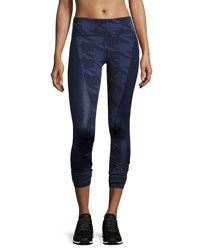 Alo Yoga Accelerate Houndstooth Panel Sport Leggings Navy