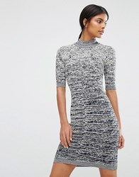 Y.A.S Grace Short Sleeve Knitted Bodycon Dress Multi