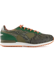 Diadora Heritage By The Editor 'Trident P Zebra' Limited Edition Trainers Green