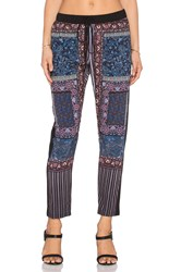 Clover Canyon Patchwork Paisley Pant Blue