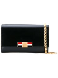 Thom Browne Metal Bow Crossbody Bag Women Calf Leather One Size Black