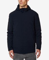 32 Degrees Men's Hooded Rain Jacket Dk Navy