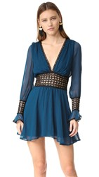 For Love And Lemons Celine Mini Dress Midnight