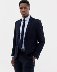 Only And Sons Slim Suit Jacket Dark Navy
