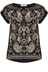 Oasis Ornate Paisley Tee Grey