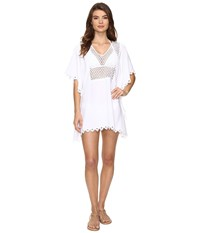 Seafolly Lace Insert Kaftan Cover Up White Women's Swimwear