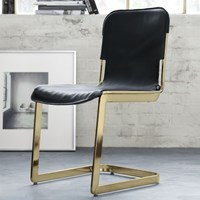 Cb2 Rake Brass Chair