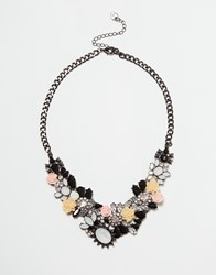 Lipsy Flower Cluster Collar Necklace Multi