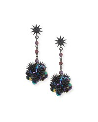 Lulu Frost Rose Crystal Statement Earrings Multi