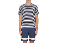 Solid And Striped Men's T Shirt Navy Cream