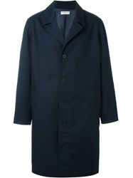 Melindagloss Buttoned Overcoat Blue