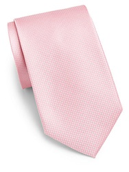 Saks Fifth Avenue Black Tonal Silk Tie Light Pink